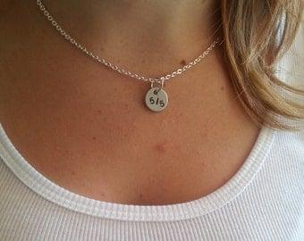 Buffy Fan Necklace- Faith Slayer 5/5 Five By Five Sterling Silver