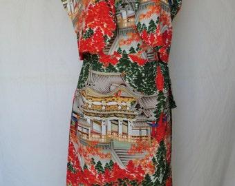 1950s Hawaiian Sarong Dress and Matching Bolero