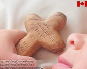 Boy Baptism. Custom Child Cross. Baptism Gift for Godparents. 1st Communion Girl. Personalized. First Communion. Natural Olive Wood.