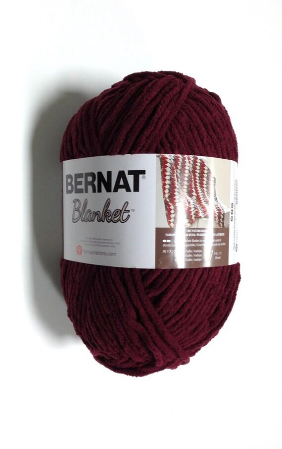 Bernat Big Blanket Yarn In Purple Plum Large Skein 300