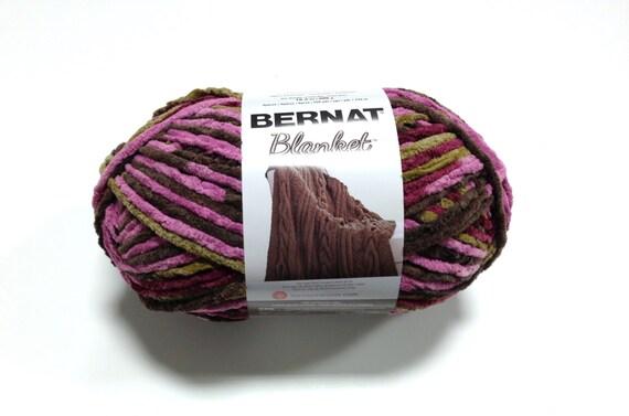 Bernat Big Blanket Yarn Plum Chutney Large Skein 300 Grams New