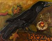 Raven Art Print, Raven Wisdom