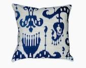 Lee Jofa Blue Ikat Pillow