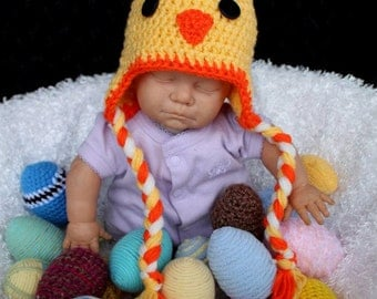 Crochet chicken hat. Made to order