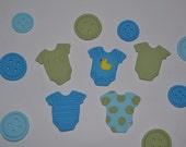 Edible Baby shower cupcake toppers Onsies/Buttons