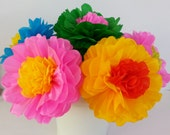 Tissue Paper Fiesta Flowers - Set of 10 flowers  Decor//Birthdays//Fiesta//Mexico//Parties//Cinco de Mayo