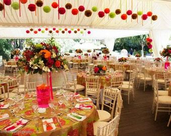 Tissue Paper Poms Set of 27 - Ceremony//DIY//Weddings//Baptism//Parties//Decoratinos