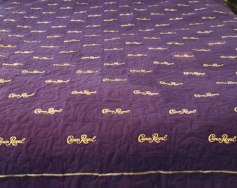 Crown Royal Quilt, Custom Made to Order, Man Cave Quilt, Anniversary, Christmas Gift, Gifts for Him, Guy Gift, Etsy Dudes, Quilts for Men