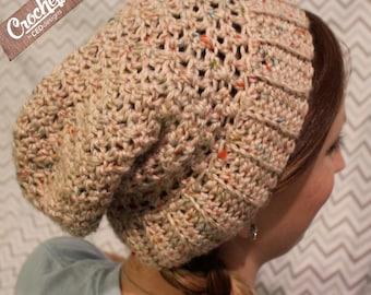 Crochet Slouchy Beanie-Woman's Size