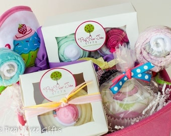 It's a Girl Baby Gift Basket, Baby Shower Gift Basket