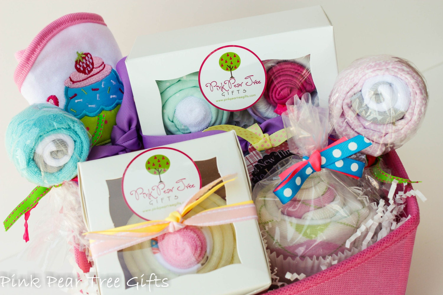 it 39 s a girl baby gift basket baby shower gift by pinkpeartreegifts