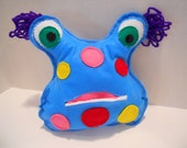 Monster Mushie Blue Tooth Fairy Pillow Plushie Toy Doll
