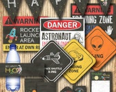 Rocket birthday - Space shuttle party signs decorations - chalkboard birthday party decorations - DIY Instant download space rocket banner