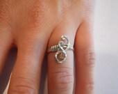 Sterling Silver Wrap Ring Sz. 5.5