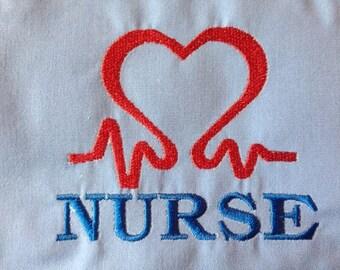 Nurse Digitized Machine Embroidery File ONLY Nursing Hospital Health Care