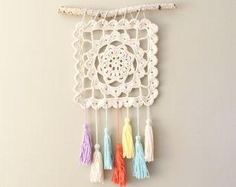 "DIY Crochet PATTERN - Dreaming of Granny, Granny Square, 10.5"" square Wall Hanging (HomDec010)"
