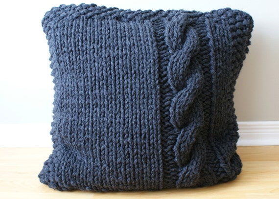 Knitting Inspirations Perth : Diy knitting pattern chunky cable knit pillow cover