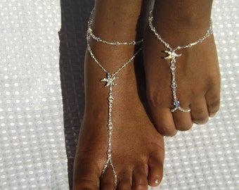 Starfish Jewelry Barefoot Sandals Foot jewelry Anklet Barefoot Sandles Wedding Thongs