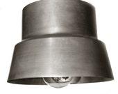 """Pendant lamp in zinc """"casque"""""""