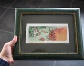 À la campagne : original framed watercolor
