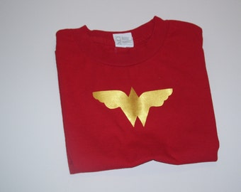 WONDER WOMAN T shirt, Wonder Woman Short Sleeve T shirt, Girls Wonder Woman Ts Shirt size 5/6,
