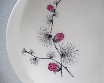 Canonsburg Pottery - Wild Clover Pattern - Large Oval Tabbed Platter  - 1960s (only 1 available)