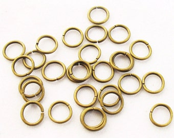About 2000 Pieces 0.7x6 mm Antique Bronze Jump Rings Jewelry Findings A2319-25