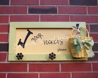 Laundry Room Sign Check Your Pockets Laundry Organization Gifts for Her Laundry Room Decor Upcycled Custom Laundry Sign Housewarming Gift