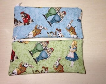 Alice in Wonderland coin purse or Pencil/makeup bag