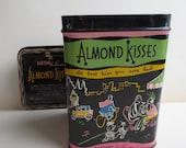 Bartons Bonbonierre Almond Kisses Storage Tin 1960s