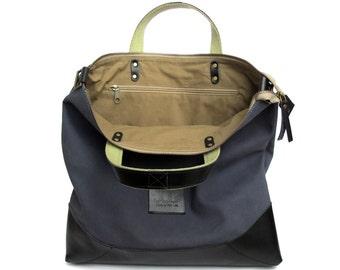 Leather messenger handbag - leather shoulder bag SALE black leather bag women office bag - crossbody bag- leather handbag - laptop bag