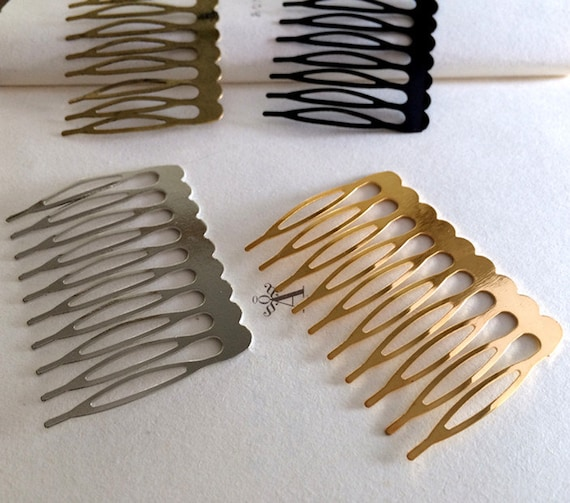 10teeth assorted colors metal hair combs 10pcs from for Metal hair combs for crafts