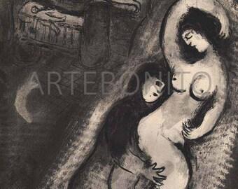 "Chagall ""Le Berceau"" -Verve 1950"