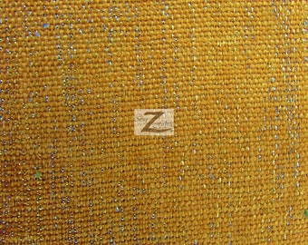 """Sparkle Chenille Upholstery Fabric - GOLD - 57"""" Width Sold By The Yard"""