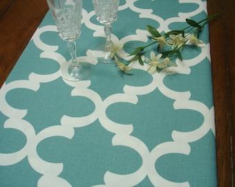 Blue  Table Runner Party Table Runner Regatta  Blue Ivory  Wedding Runner Home Decor  Decorative  Home Decor  12 x 72