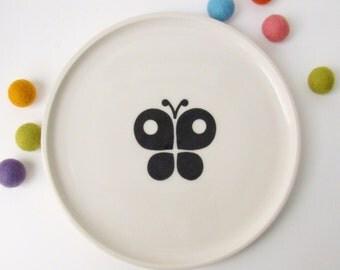 Kids Handmade Ceramic Plate - Butterfly