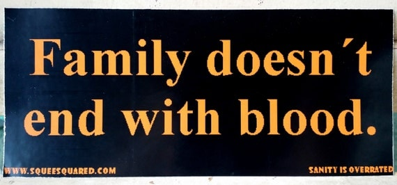 Items Similar To Family Doesn't End With Blood