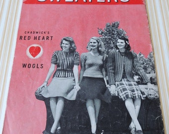 1941 SWEATERS The Cotton Spool Company Booklet
