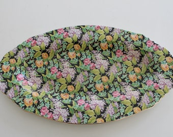 Vintage BCM Lord Nelson Black Beauty Small Chintz Platter
