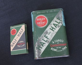 Vintage Burley Bright Half and Half Pipe Tobacco Rolling Papers Unopened