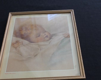 Vintage Bessie Pease Gutmann Baby Picture Mighty Like a Rose