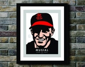 Stan Musial of the St. Louis Cardinals Baseball Team Digital Print - 8x10
