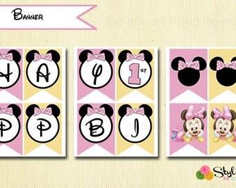 Baby Minnie Banner