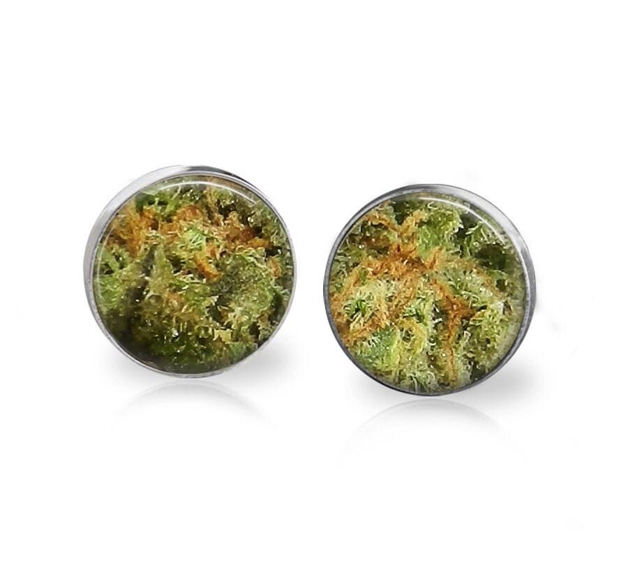 items similar to cherry pie marijuana strain earrings