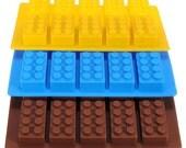 3 Pcs Lego Brick Pattern, Silicone, Ice Cube, chocolate, soap SKU B3XSKU040670