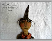 Primitive  Fall Halloween witch doll pattern Click Your Heels