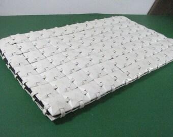 1940s White Plastic Square Clutch