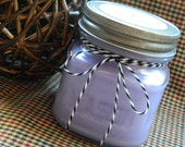 LOVE SPELL Soy Candle - Maximum Scented - 8 oz Square Mason Jar