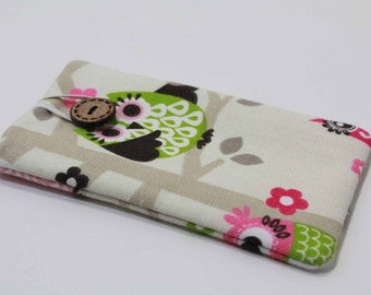 Iphone 5s Sleeve IPhone 5c Cover IPhone Case Samsung Galaxy S4 Sleeve  Ipod case- Owl