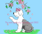Digital stamp download.. Catching Blossoms